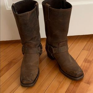 Frye Dark Brown Leather Boots